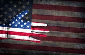 stock photo of multi purpose  - Flag Of USA Painted On A Man - JPG