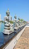 pic of vihara  - The Statues Of Seema Malakaya At The Gangarama Temple In Beira Lake - JPG