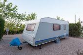 pic of caravan  - Caravan on a camping site in Spain - JPG