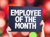 picture of employee month  - Employee of the Month card with bokeh background - JPG