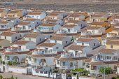 stock photo of urbanisation  - Vacation homes in the urbanisation Camposol Region Murcia Spain - JPG