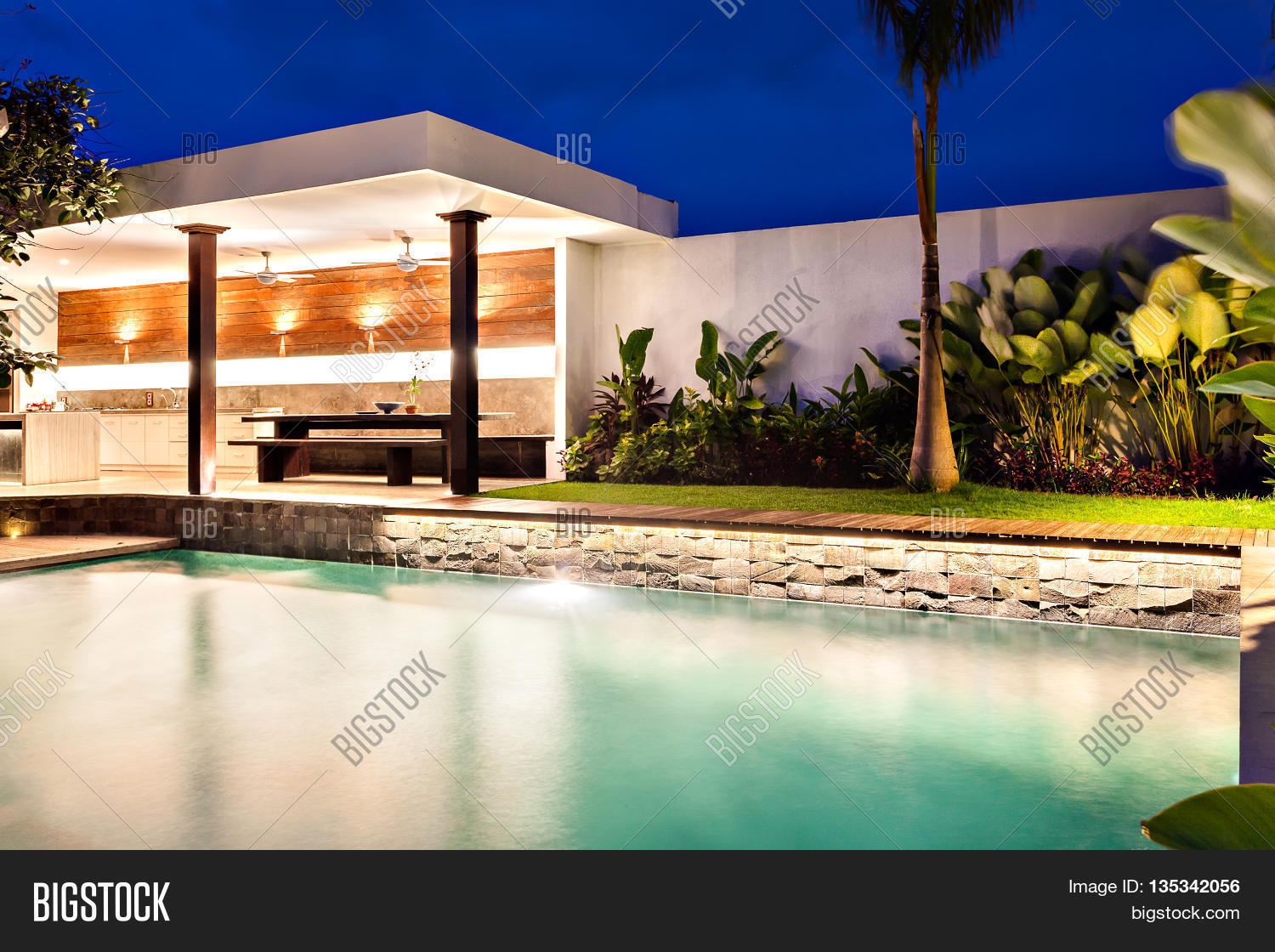 home swimming pools at night. Modern Home With A Style Swimming Pool At Night Pools