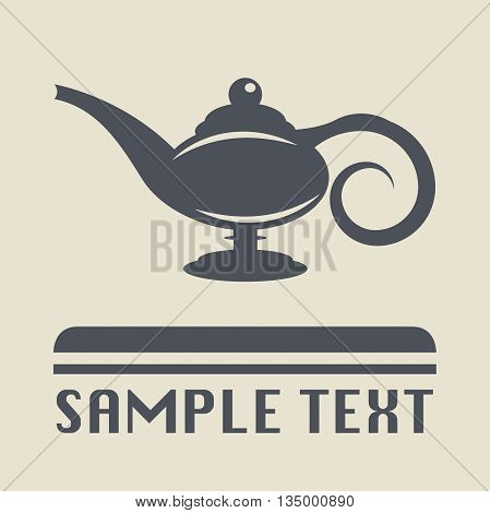 Abstract Lamp Aladdin icon or sign, vector illustration