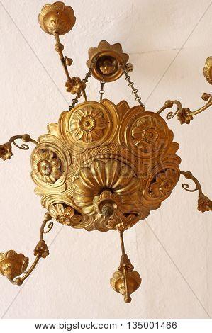Chandelier antique floral pattern decorative object art.