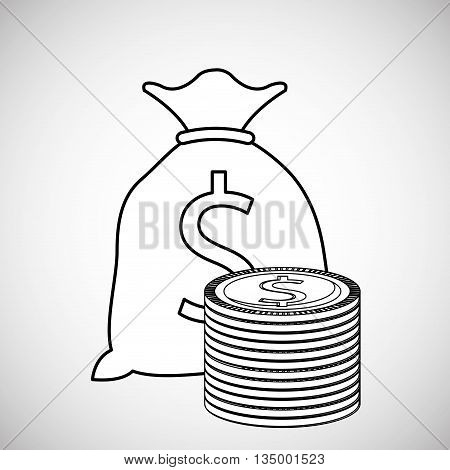 Financial item concept with icon design, vector illustration 10 eps graphic.