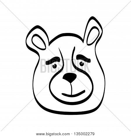 Cute animal concept represented by bear cartoon icon over flat and isolated background