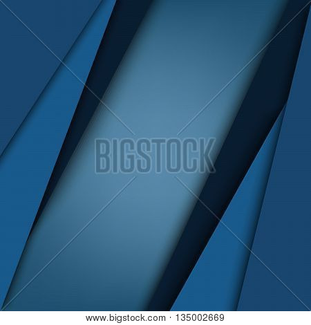 Abstract blue triangular stripes background vector eps 10