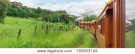 Old Train In Tiradentes, A Colonial And Historical City
