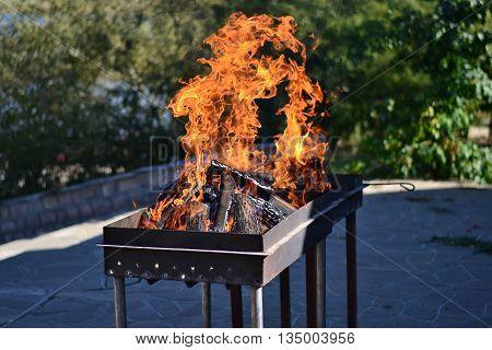 Огонь, Мангал, Природа,