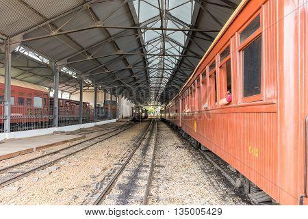 Old Train In Saint John Del Rey Historical City