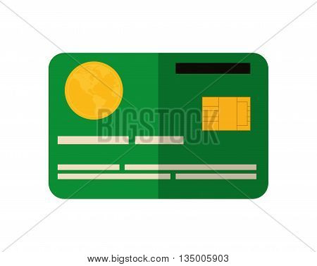 money and financial item concept represented by Credit card icon over flat and isolated background