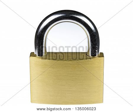 Solid brass satin lock with hardened steel temperated shackle