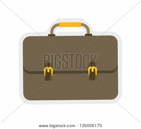 Bag concept represented by colorfull suitcase icon over flat and isolated background