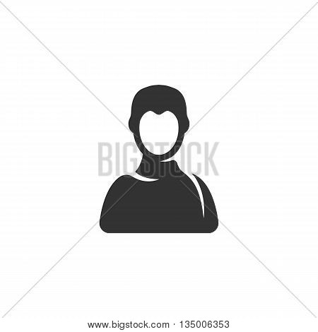 User icon on white background. User vector logo. Man icon. Flat design style. Modern vector pictogram for web graphics. - stock vector