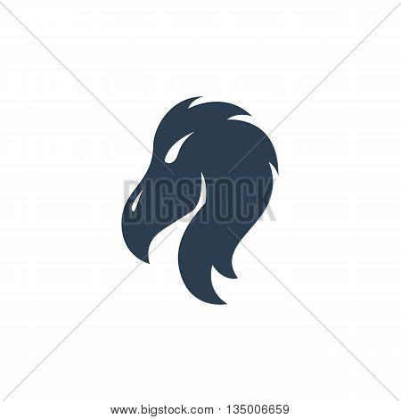 Vulture logo on white background - stock vector