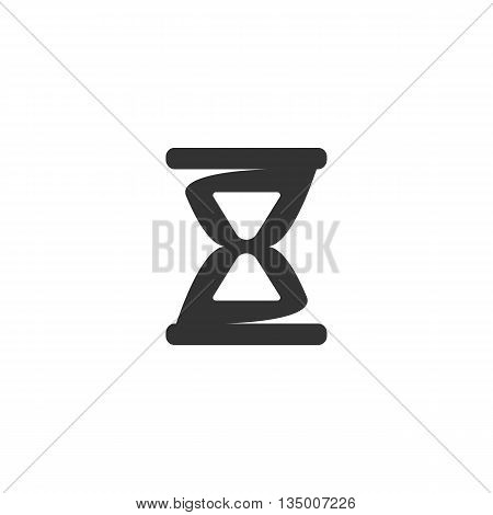 Hourglass icon on white background. Hourglass vector logo. Flat design style. Modern vector pictogram for web graphics. - stock vector