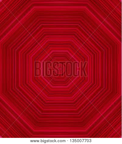 Red abstract pattern, kaleidoscope background vector illustration