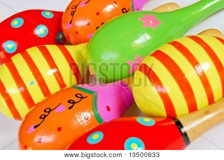 Colorful Wooden Toy Maracas