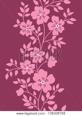 vertical seamless floral pattern