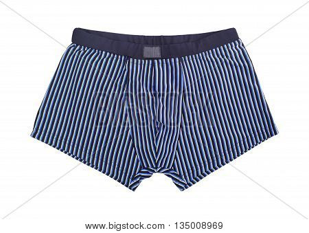 Men's swimming trunks isolated on white background