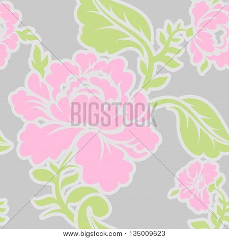 Russian Traditional Floral Pattern. National Ornament Khokhloma. Roses And Leaves Texture. Retro Fol
