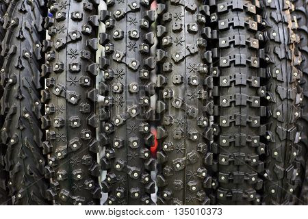 Bicycle Winter Tires An Assortment Of Store