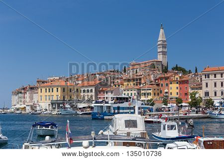 Boats In Rovinj, Croatia