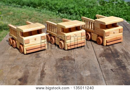 WOODEN BUSES, TOYS ARE ECOLOGICAL AND SAFE FOR CHILDREN