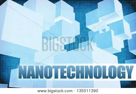 Nanotechnology on Futuristic Abstract for Presentation Slide 3D Illustration