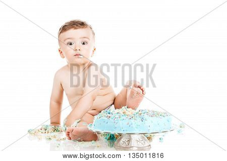 Baby Boy With A Cake
