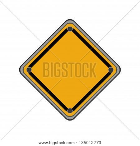 Under Construction concept represented by road sign icon over flat and isolated background