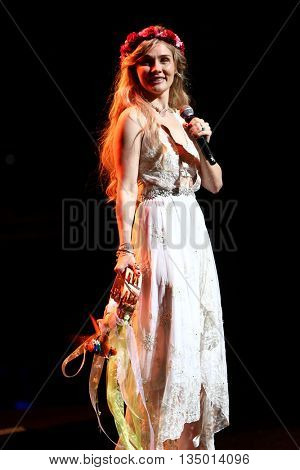 NEW YORK-APR 30: Clare Bowen performs onstage during the 'Nashville' Tour at The Beacon Theatre on April 30, 2015 in New York City.