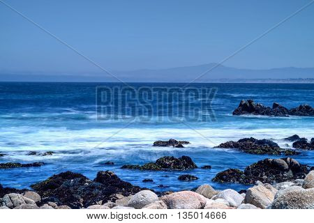 Monterey Bay from Asilomar State Marine Reserve California