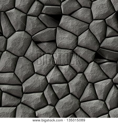 seamless mosaic gray stones pattern texture background with white grout - cobble