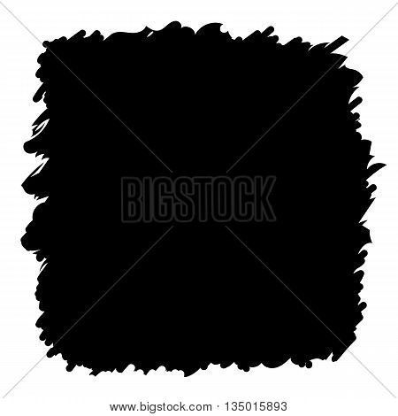 Grunge background black watercolor ink brush abstract hand drawn texture set design element