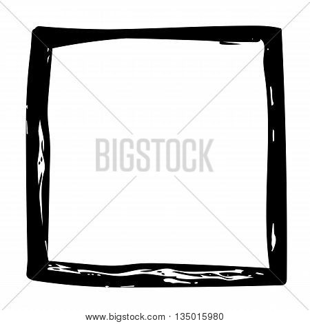 Grunge background black frame watercolor ink brush abstract hand drawn texture