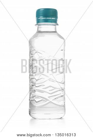Plastic bottle isolated on white with clipping path