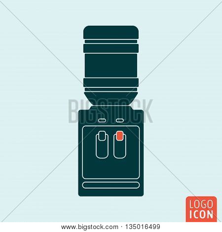 Water cooler icon isolated. Office water dispenser symbol. Vector illustration