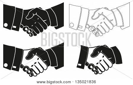 Illustration Icon Vector Shake Hands for the creative use in graphic design