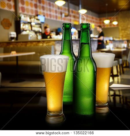 Beer In Bar Interior