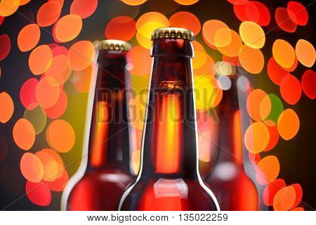 Tree Brown Beer Bottles
