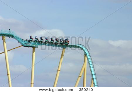 Roller Coaster Full Of People