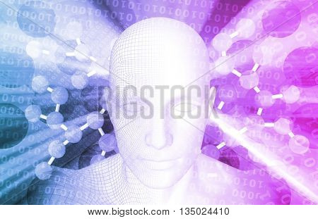 Genome or Genetic Material of an Organism 3D Illustration Render