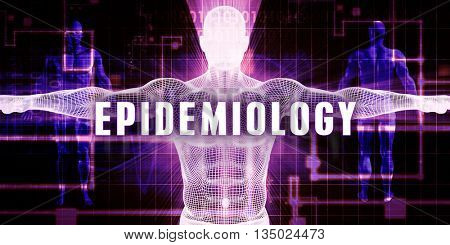 Epidemiology as a Digital Technology Medical Concept Art 3D Illustration Render