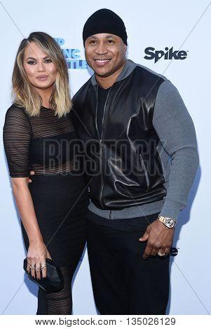 LOS ANGELES - JUN 14:  Chrissy Teigen & LL Cool J arrives to the
