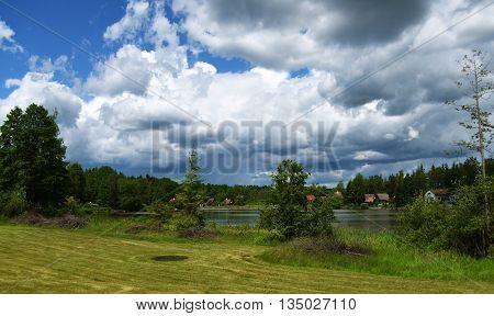 Pond in south Bohemia named Dubensky near Sevetin village