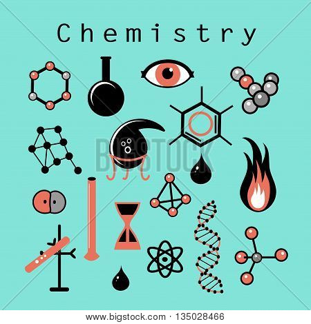 Beautiful vector illustration of different chemical elements