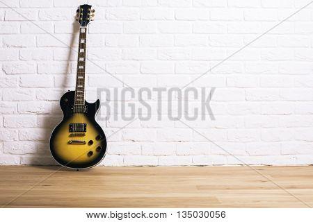Electric Guitar In Studio