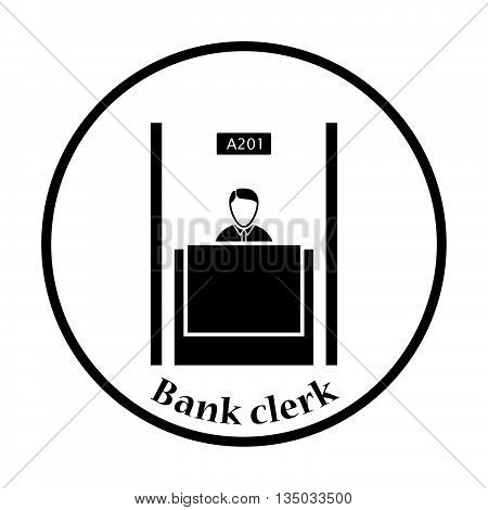 Bank Clerk Icon