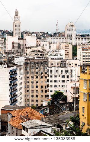 Old Residencial Buildings in Rio de Janeiro City Center